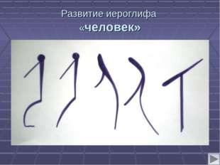 Развитие иероглифа «человек»