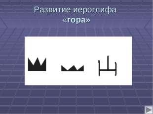 Развитие иероглифа «гора»