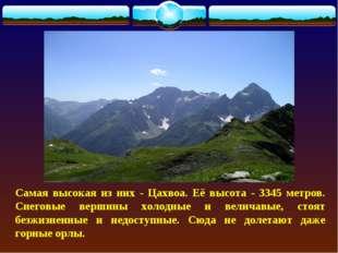 Самая высокая из них - Цахвоа. Её высота - 3345 метров. Снеговые вершины холо
