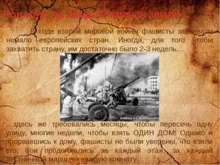 Бои идут за каждый клочок земли… В ходе второй мировой войны фашисты завоевал