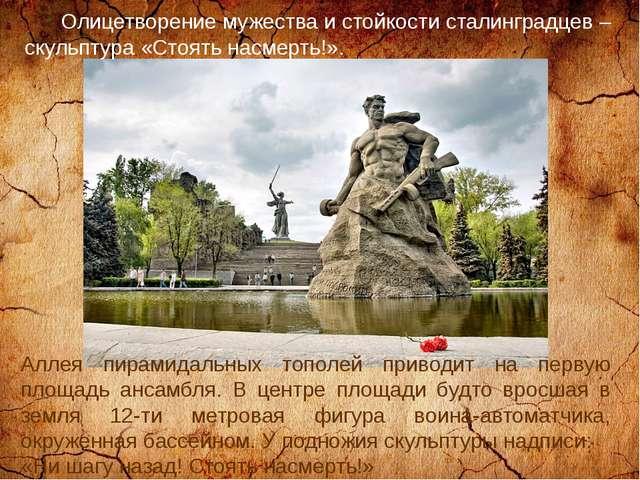 Олицетворение мужества и стойкости сталинградцев – скульптура «Стоять насмер...