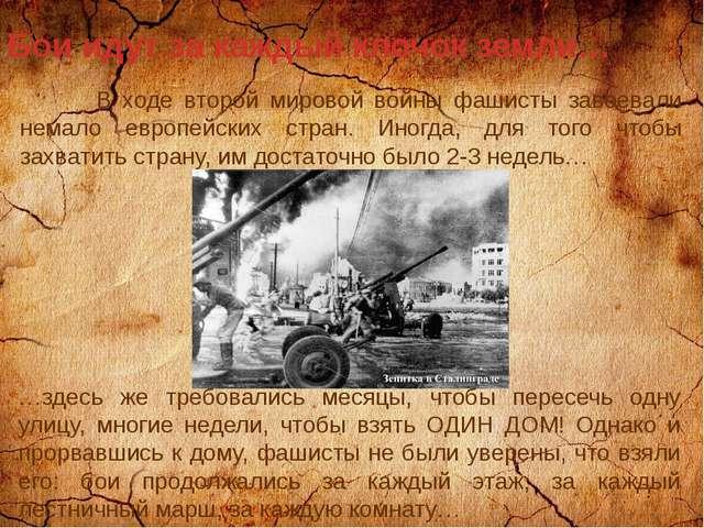 Бои идут за каждый клочок земли… В ходе второй мировой войны фашисты завоевал...