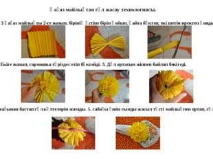 Қағаз майлықтан гүл жасау технологиясы. 1. 3 қағаз майлықты 2-ге жазып, бірін