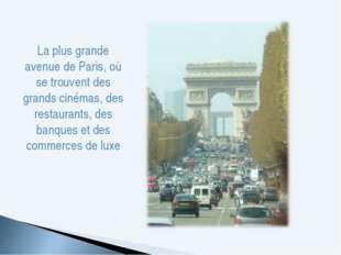 La plus grande avenue de Paris, où se trouvent des grands cinémas, des restau