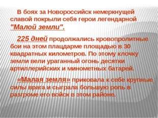"""В боях за Новороссийск немеркнущей славой покрыли себя герои легендарной """"Ма"""