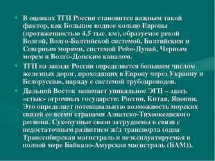 В оценках ТГП России становится важным такой фактор, как Большое водное кольц