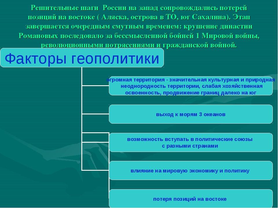 Решительные шаги России на запад сопровождались потерей позиций на востоке (...