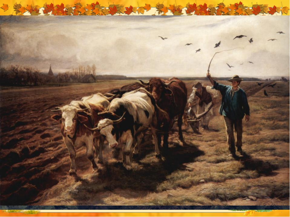Чем вспахивали поле в старину?