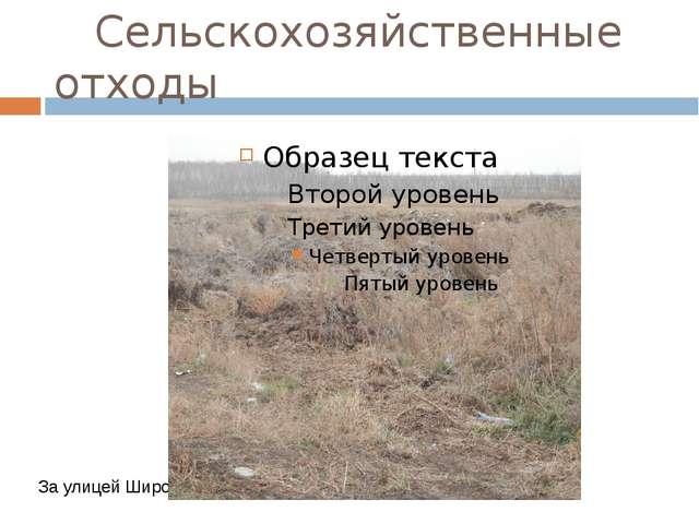 Сельскохозяйственные отходы