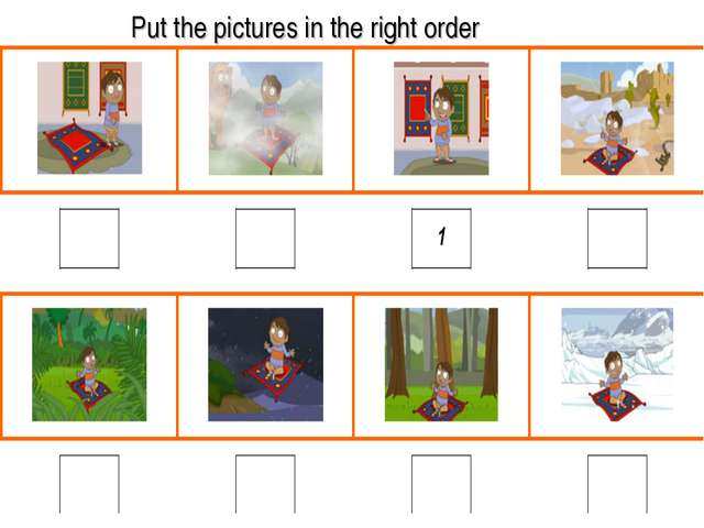 Put the pictures in the right order