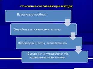 Основные составляющие метода: