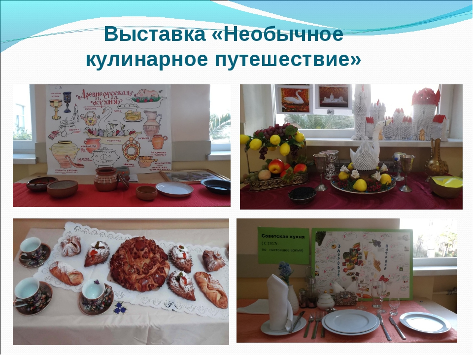 Выставка «Необычное кулинарное путешествие»