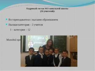 Кадровый состав МО начальной школы (16 учителей): Все преподаватели с высшим