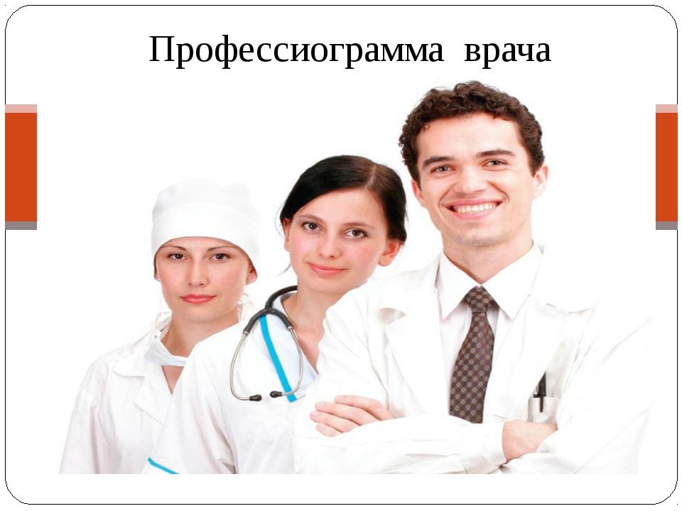 Профессиограмма врача