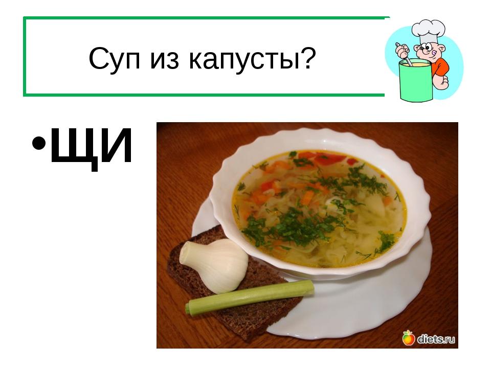 Суп из капусты? ЩИ
