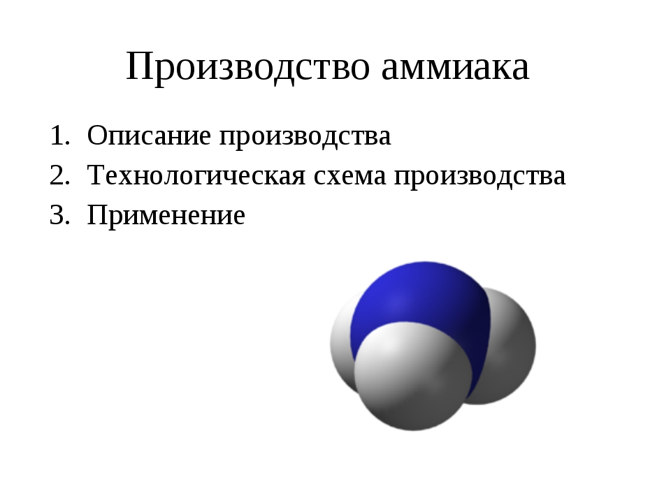 Производство аммиака Описание производства Технологическая схема производства...