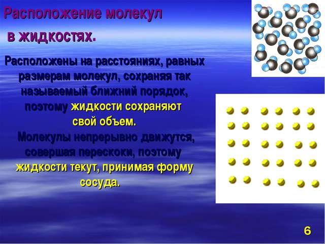 Расположены на расстояниях, равных размерам молекул, сохраняя так называемый...