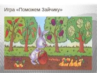 Игра «Поможем Зайчику»