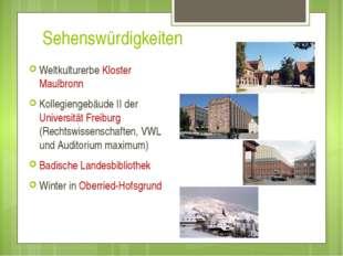 Sehenswürdigkeiten Weltkulturerbe Kloster Maulbronn Kollegiengebäude II der U