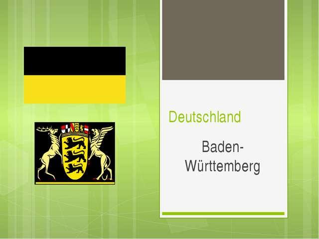 Deutschland Baden-Württemberg