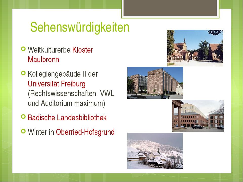 Sehenswürdigkeiten Weltkulturerbe Kloster Maulbronn Kollegiengebäude II der U...