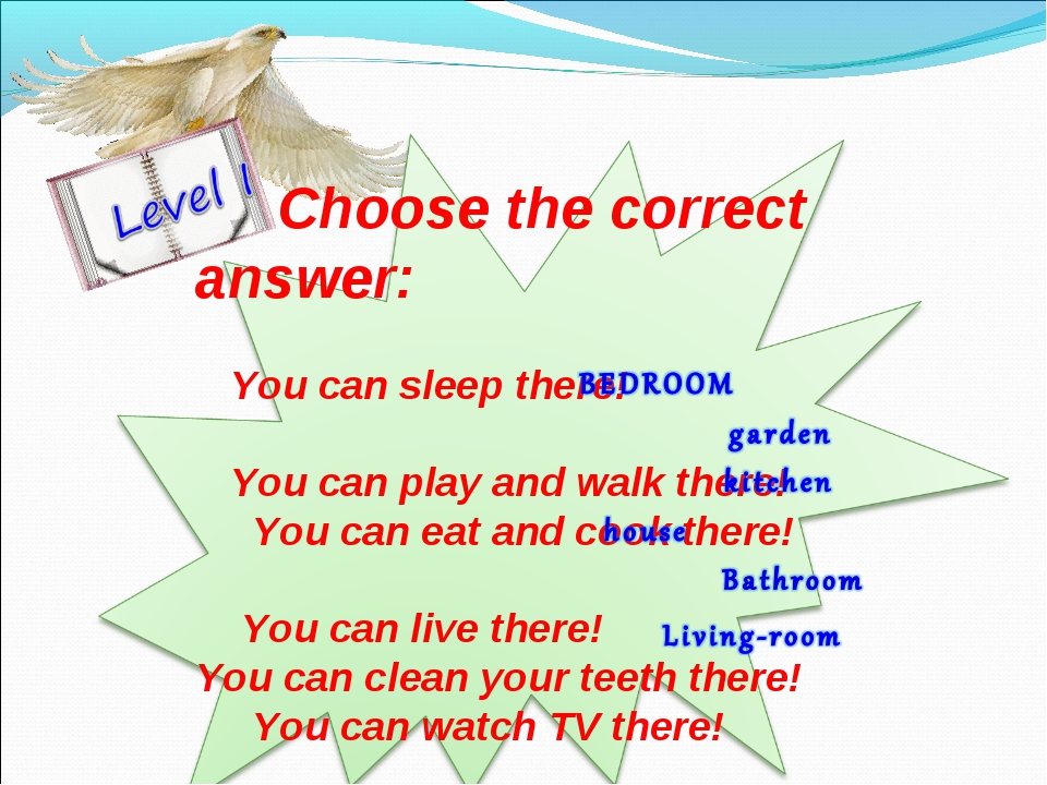 Choose the correct answer: You can sleep there! You can play and walk there!...