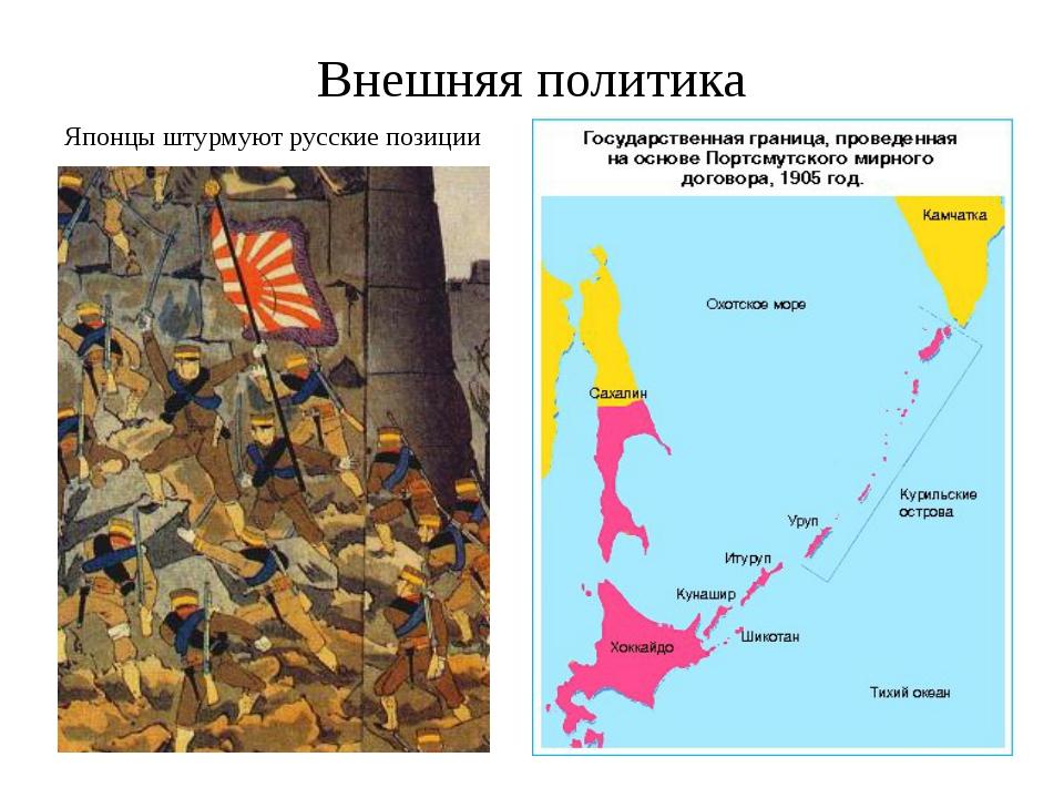 Внешняя политика Японцы штурмуют русские позиции