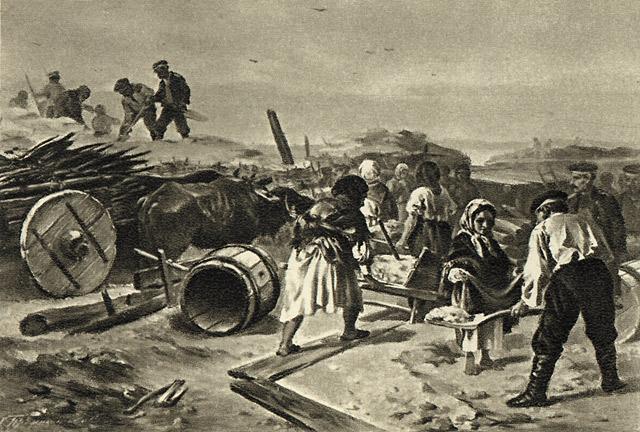 Строительство укреплений в Севастополе во вр