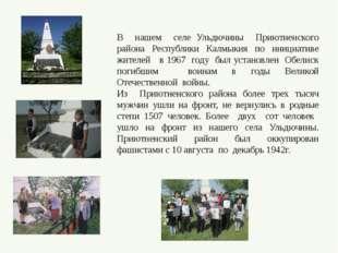 В нашем селе Ульдючины Приютненского района Республики Калмыкия по инициативе