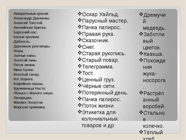 Акварельные краски. Александр Довженко. Алексей Толстой. Английская бритва. Б...