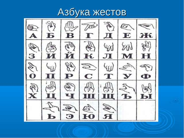 Азбука жестов