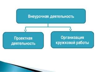 Внеурочная деятельность Организация кружковой работы Проектная деятельность