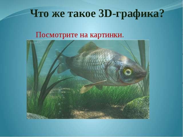 Что же такое 3D-графика? Посмотрите на картинки. Вы уже знаете, что 3d – «тр...