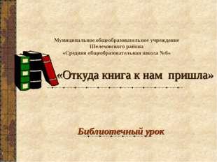 Муниципальное общеобразовательное учреждение Шелеховского района «Средняя общ