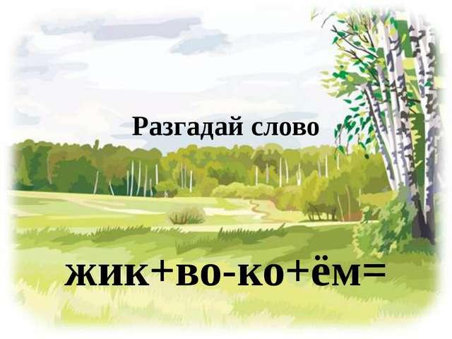 Разгадай слово жик+во-ко+ём=