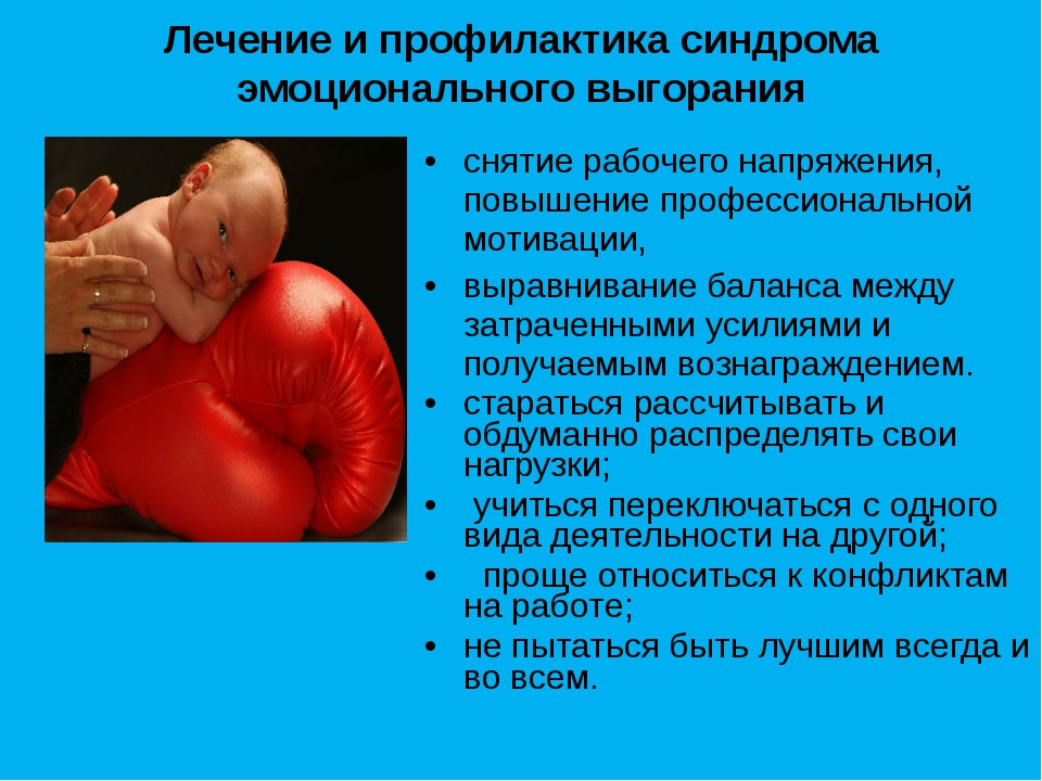 Лечение и профилактика синдрома эмоционального выгорания снятие рабочего напр...