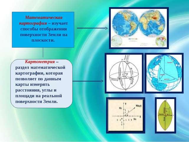 Математическая картография – изучает способы отображения поверхности Земли н...