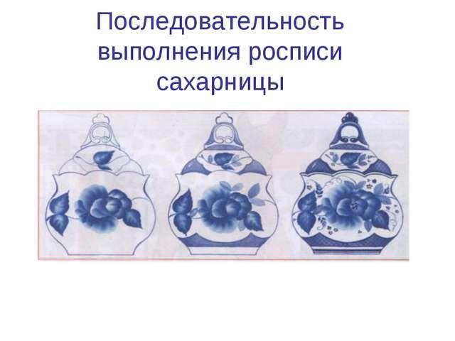 Последовательность выполнения росписи сахарницы