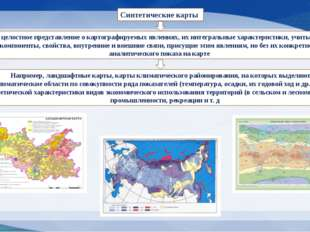 Синтетические карты дают целостное представление о картографируемых явлениях,
