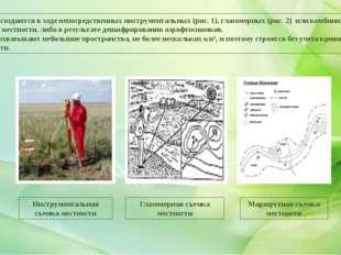Планы создаются в ходе непосредственных инструментальных (рис. 1), глазомерн