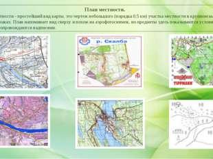 План местности. План местности - простейший вид карты, это чертеж небольшого
