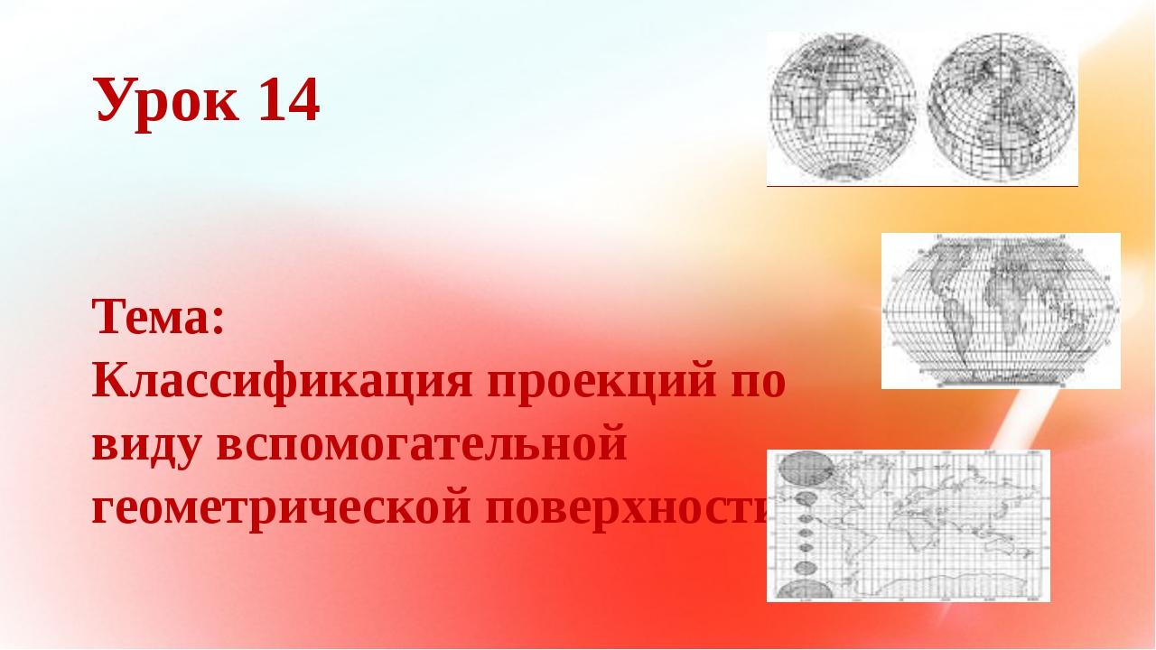 Урок 14 Тема: Классификация проекций по виду вспомогательной геометрической п...