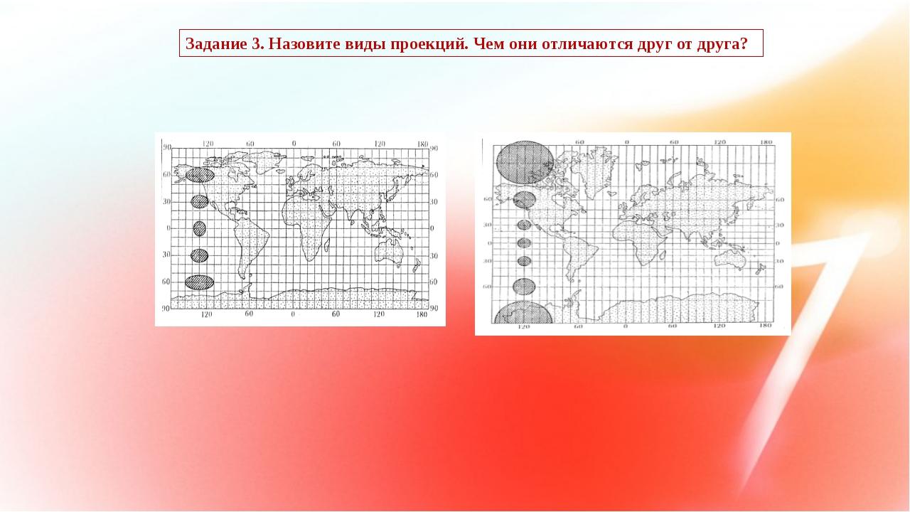 Задание 3. Назовите виды проекций. Чем они отличаются друг от друга?