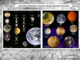 Спутники Юпитера, Сатурна, Урана, Нептуна, Плутона