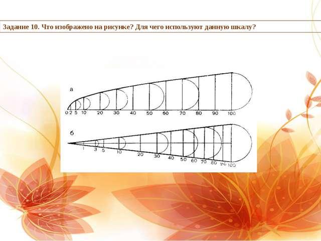 Задание 10. Что изображено на рисунке? Для чего используют данную шкалу?