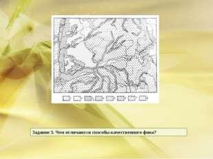 Задание 3. Чем отличаются способы качественного фона?
