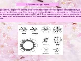 2. Различные виды «роз» Например, роза ветров, на рисунке, справа, внизу пока