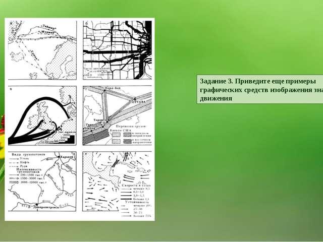 Задание 3. Приведите еще примеры графических средств изображения знаков движе...