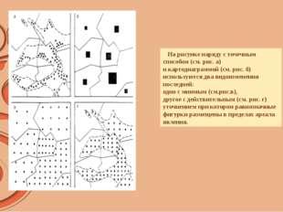 На рисунке наряду с точечным способом (см. рис. а) и картодиаграммой (см. ри