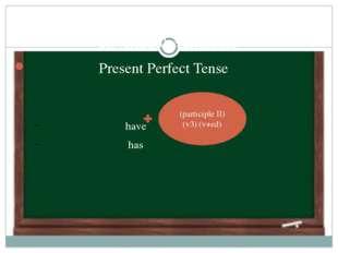 Revising the grammar Present Perfect Tense have has  (participle II) (v3) (v
